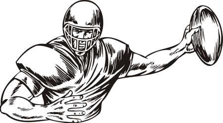 football tackle: Football  illustration ready for vinyl cutting.