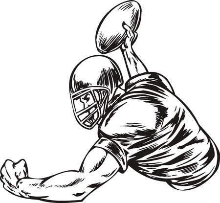 cleats: Football.  illustration ready for vinyl cutting.