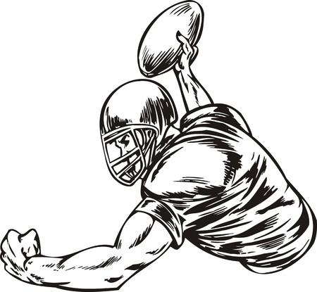 football tackle: Football.  illustration ready for vinyl cutting.