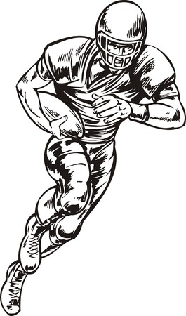 touchdown: Football.  illustration ready for vinyl cutting.