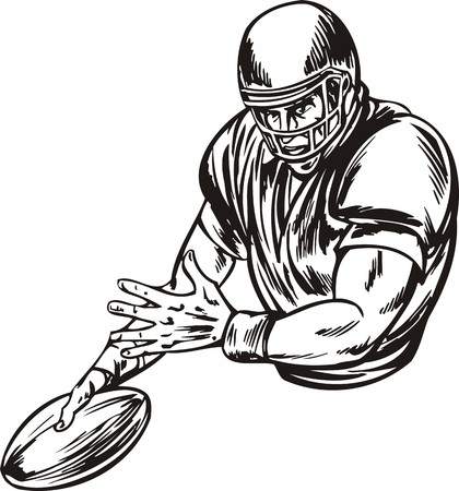 Football.  illustration ready for vinyl cutting. Stock Vector - 8376495