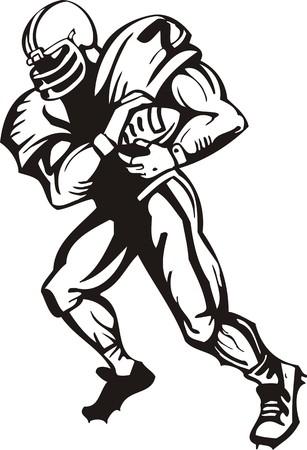 running back: Football.  illustration ready for vinyl cutting.