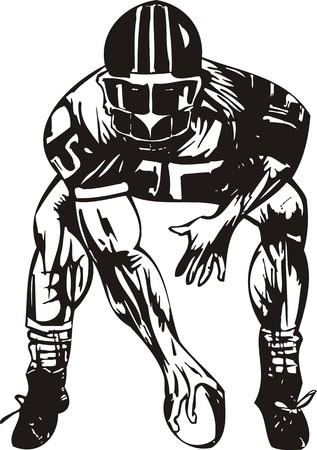 football tackle: Football. illustration ready for vinyl cutting. Illustration