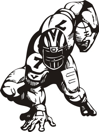 sports helmet: Football. illustration ready for vinyl cutting. Illustration