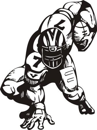 running back: Football. illustration ready for vinyl cutting. Illustration