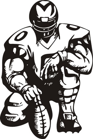 Football. illustration ready for vinyl cutting. Vector