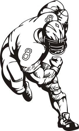 tackling: Football. illustration ready for vinyl cutting. Illustration