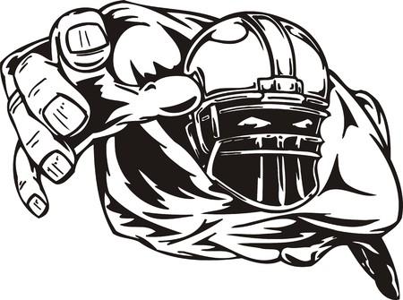 toughness: Illustrazione di calcio pronta per il taglio di vinile.