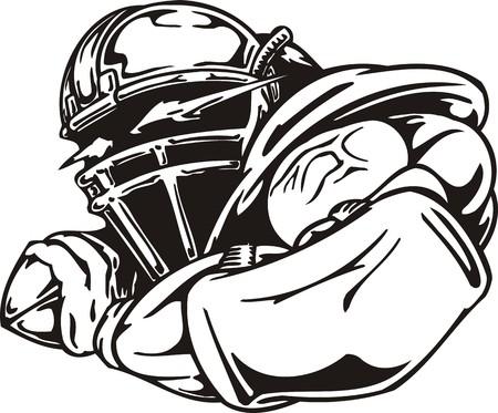 cleats: Football. illustration ready for vinyl cutting. Illustration