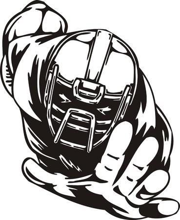 college football: Football. illustration ready for vinyl cutting. Illustration