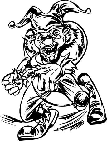 Scary Clowns.Vector illustration ready for vinyl cutting. Stock Vector - 8437766