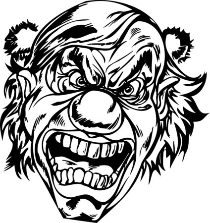 Scary Clowns.Vector illustration ready for vinyl cutting. Stock Vector - 8437752