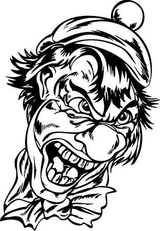 vinyl cutting: Scary Clowns.Vector illustration ready for vinyl cutting. Illustration