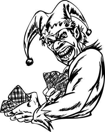 Scary Clowns.Vector illustration ready for vinyl cutting. Stock Vector - 8437787