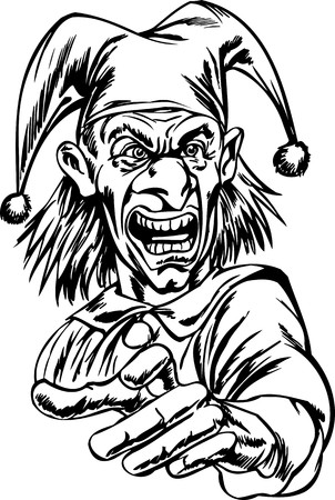 Scary Clowns.Vector illustration ready for vinyl cutting. Stock Vector - 8437799