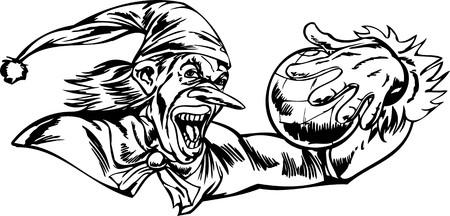 Scary Clowns.Vector illustration ready for vinyl cutting. Vector