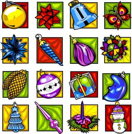 pinetree: Decoraciones de �rboles de Navidad. Vectores