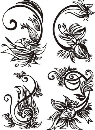 twirled: Due narcissuses e due impianti di pi�. Fiori e foglie.