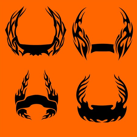 Frame Flames.Vector illustration ready for vinyl cutting. Vector