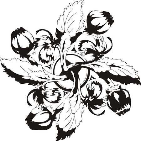 vinyl cutting: Flowers.Vector illustration ready for vinyl cutting. Illustration