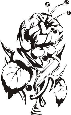 Flowers.Vector illustration ready for vinyl cutting. Vector