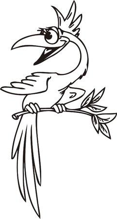 Funny Birds.Vector Illustration.Vinyl Ready. Vector
