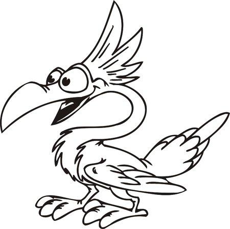 Kakadu.Funny Birds.Vector Illustration.Vinyl Ready. Vector