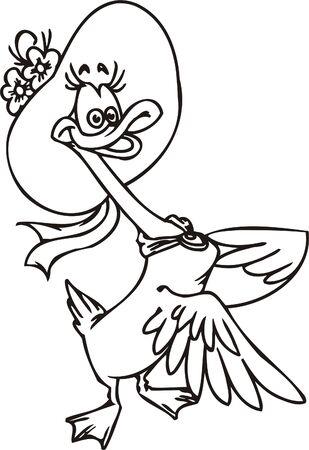 Duck hat.Funny Birds.Vector Illustration.Vinyl Ready. Vector