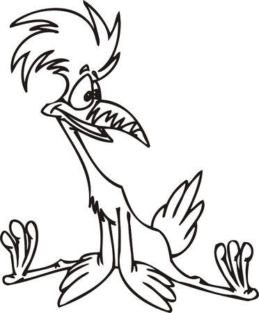 gobble: Cool bird.Funny Birds.Vector Illustration.Vinyl Ready. Illustration