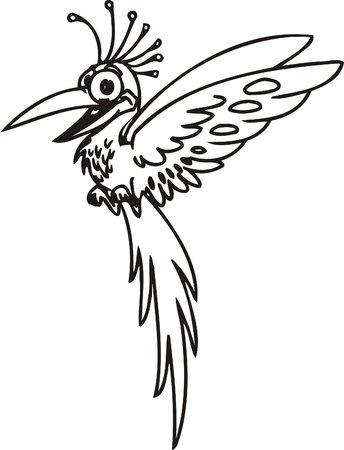 Cool bird. Funny Birds.Vector Illustration.Vinyl Ready. Vector