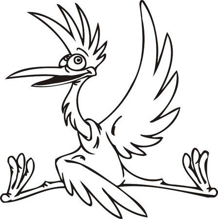 Stork.Funny Birds.Vector Illustration.Vinyl Ready. Vector