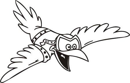 Crow in glasses.Funny Birds.Vector Illustration.Vinyl Ready. Vector
