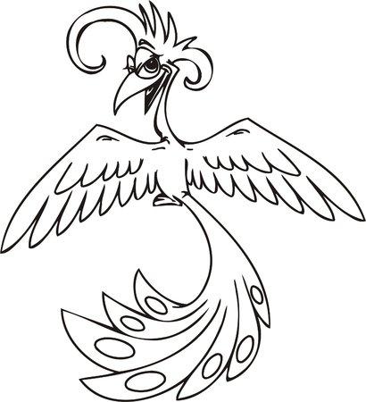 Peacock.Funny Birds.Vector Illustration.Vinyl Ready. Vector