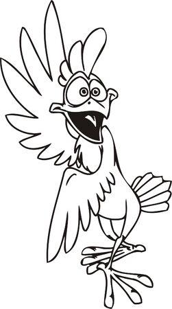 Cocky.  Funny Birds.Vector Illustration.Vinyl Ready. Vector