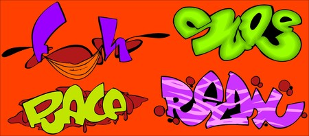 Graffiti Words.Vector illustration ready for vinyl cutting. Stock Vector - 8594352