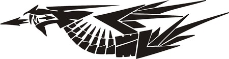 Horizontal Dragons.Vector illustration ready for vinyl cutting. Stock Vector - 8594262