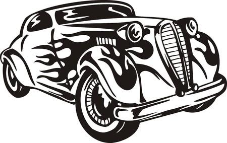 Vintage �ars.Vector illustration ready for vinyl cutting. Stock Vector - 8594344