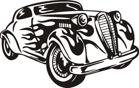 Vintage �ars.Vector illustration ready for vinyl cutting.
