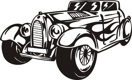 Vintage �ars.Vector illustration ready for vinyl cutting. Stock Vector - 8594356