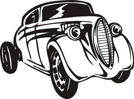 Vintage �ars.Vector illustration ready for vinyl cutting. Stock Vector - 8594624