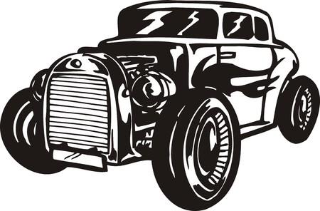 Vintage �ars.Vector illustration ready for vinyl cutting. Vector