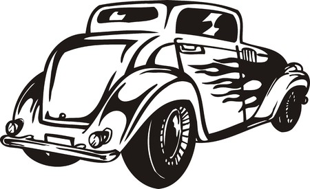 Vintage �ars.Vector illustration ready for vinyl cutting. Vector