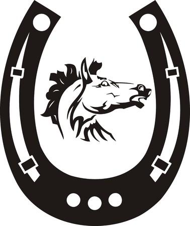 Beautiful Horse.Vector illustration ready for vinyl cutting.