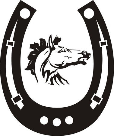 manes: Beautiful Horse.Vector illustration ready for vinyl cutting. Illustration