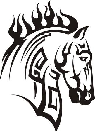 Beautiful Horse.Vector illustration ready for vinyl cutting. Vector