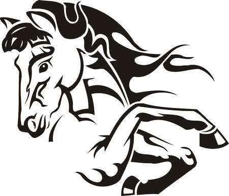 Beautiful Horse.Vector illustration ready for vinyl cutting. Illustration