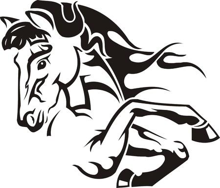 tribal: Belle Horse.Vector illustration pr�te pour la d�coupe de vinyle. Illustration