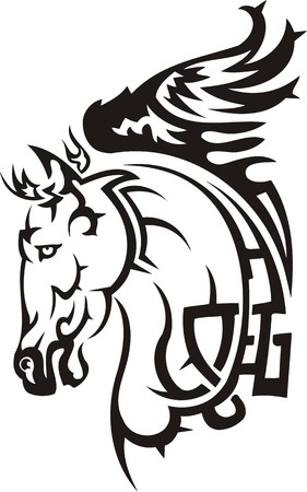 pedigreed: Beautiful Horse.Vector illustration ready for vinyl cutting. Illustration