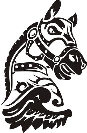 stallion: Beautiful Horse.Vector illustration ready for vinyl cutting. Illustration