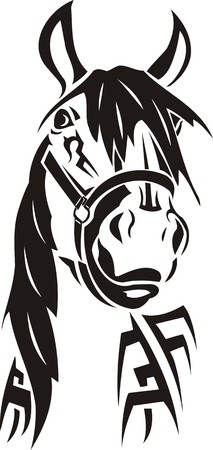 Beautiful Horse.Vector illustration ready for vinyl cutting. Illustration